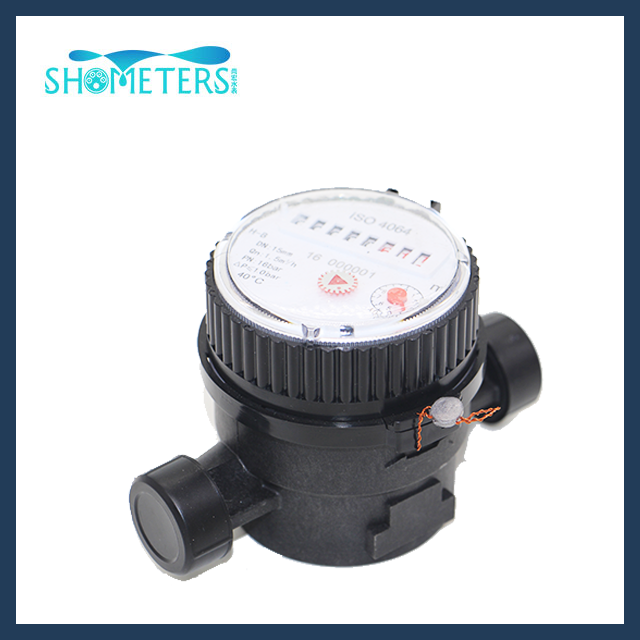 DN15 Plastic water meter Single Jet water meter