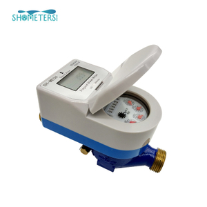 DN25 iso4064 class b brass remote reading with valve control prepaid water meter