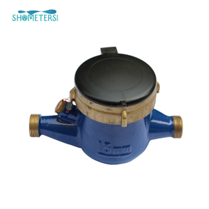 brass interface dry dial multi-jet water meter