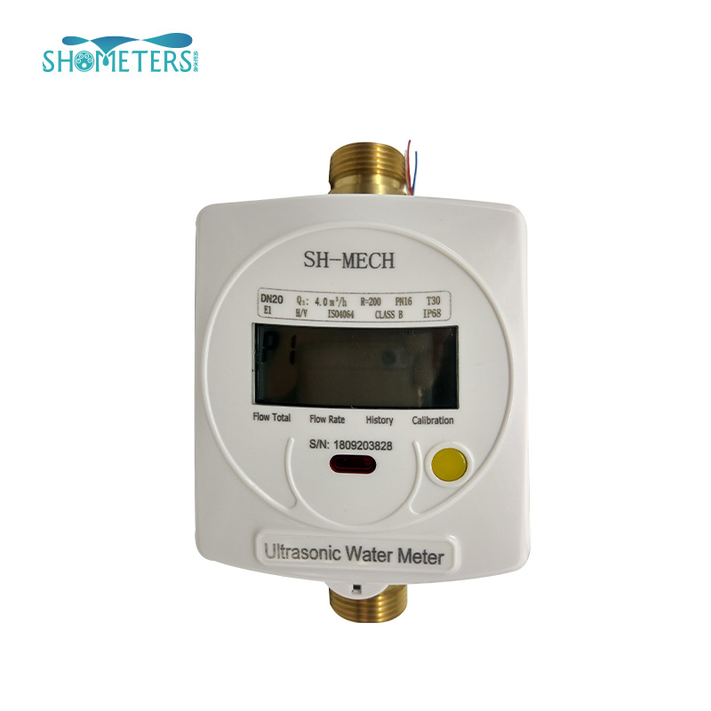 brass interface industrial smart ultrasonic water flow meter