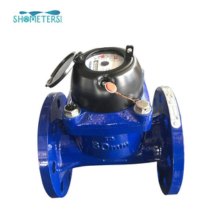 DN80 wet flanged turbine type cast iron irrigation water meter with digital display
