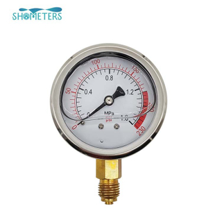 4inch stainless steel fuel pressure gauge