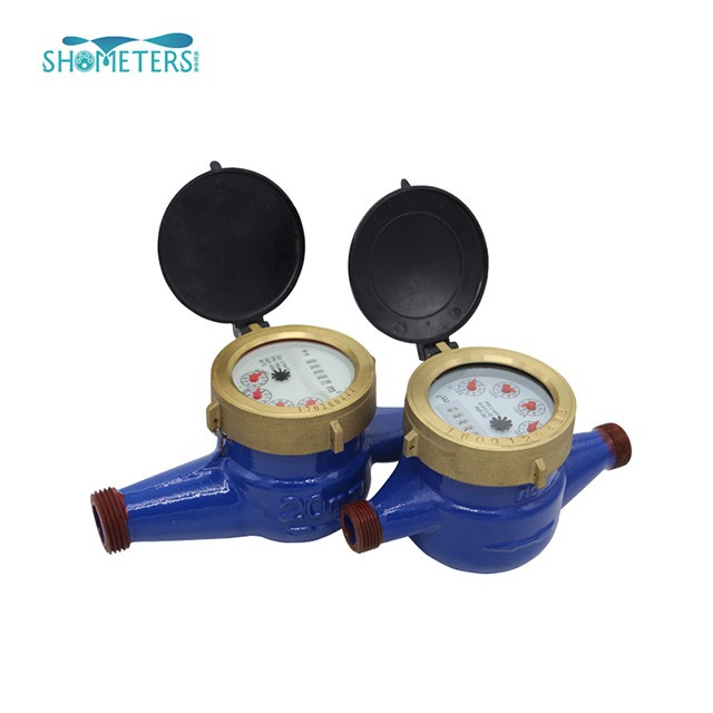 Plastic pulse sensor multi jet dry type water meter